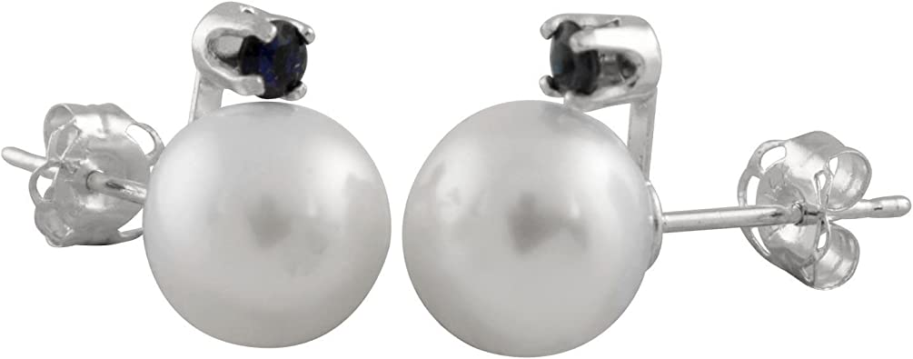 14k 4-5mm Purple Round Freshwater Cultured Pearl Stud Post Earrings in 14k Yellow Gold