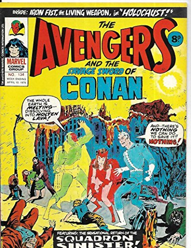 Avengers The Savage Sword Of Conan #134 1976 British Squadron Sinister