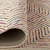 Amazon Brand – Rivet Geometric Wool Area Rug, 4 x