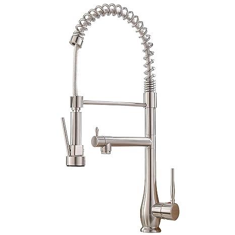 Terrific Vapsint Modern Best High Arc Single Handle Brushed Nickel Kitchen Faucet Kitchen Sink Faucets Interior Design Ideas Gentotthenellocom