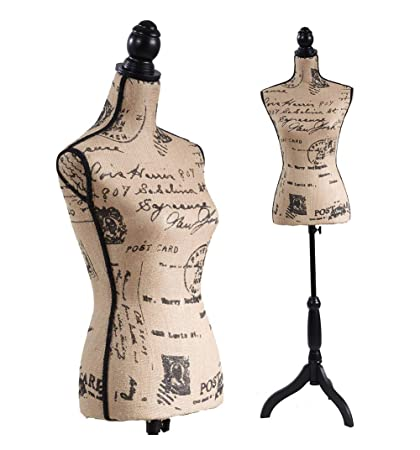 Amazon Com Female Mannequin Torso Dress Form Black Tripod Stand