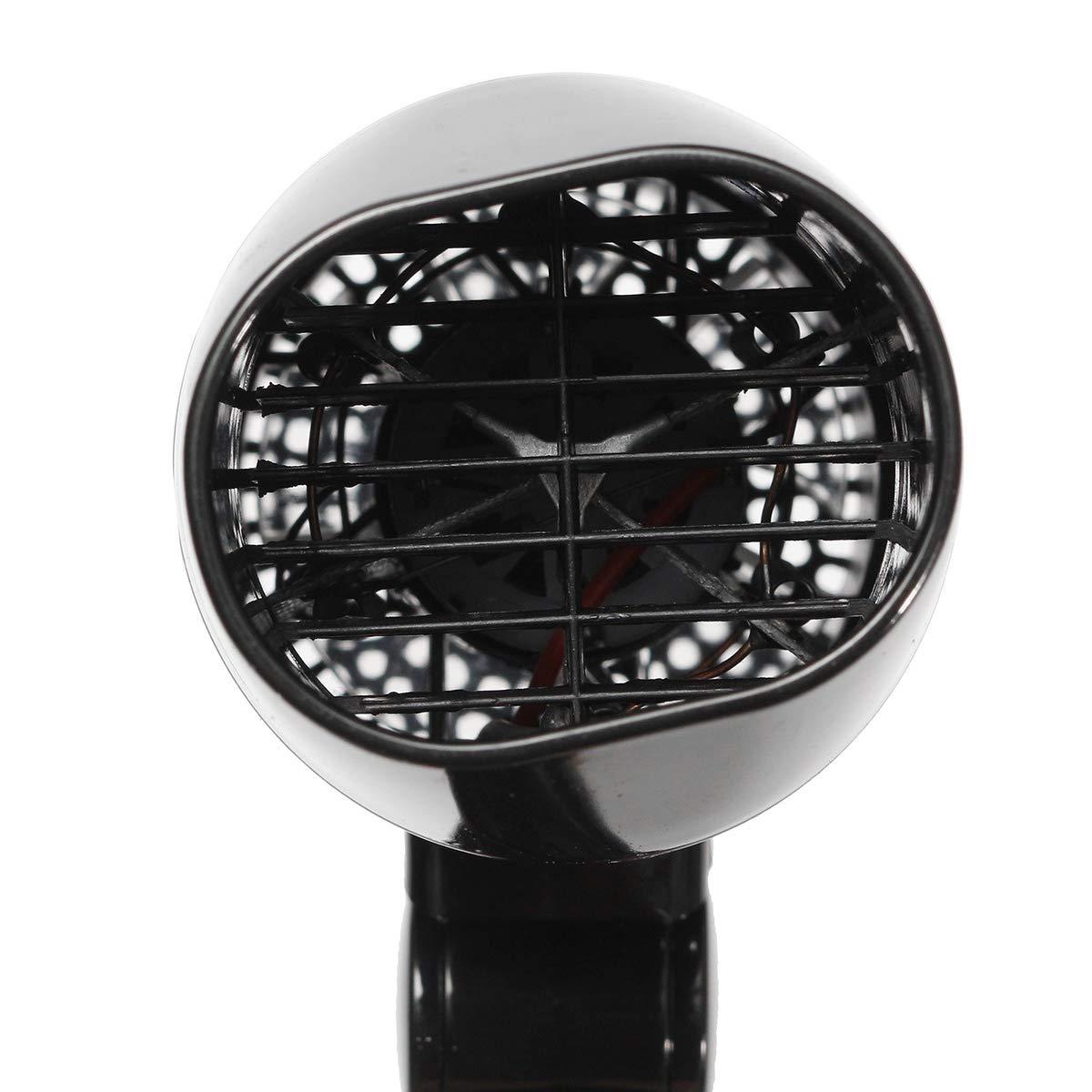 Semoic S/éChoir /à Cheveux De Voiture Ventilateur Pliable Portatif Vent Chaud Dc12V 216W Chauffage Pour Voyager Poign/éE De Rangement Facile Fen/êTre Du V/éHicule De D/éGivrage