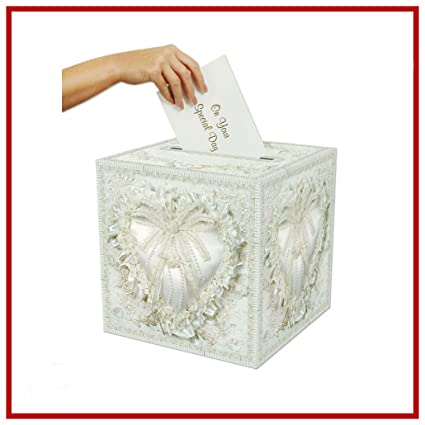 Amazon Wedding Gift Box Card Money Holder Bridal Envelop