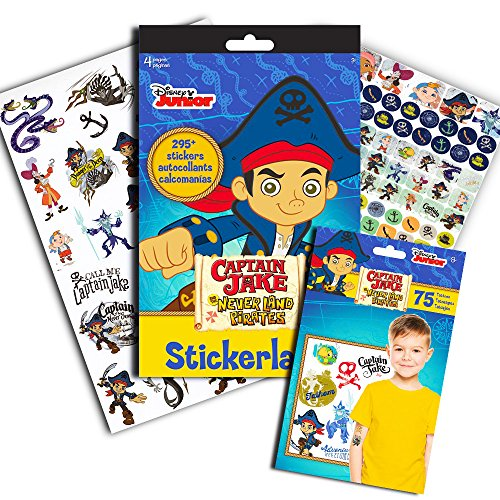 Jake and the Neverland Pirates Stickers & Tattoos Party Favor Pack (295 Stickers & 75 Temporary (Jake The Pirate Stickers)