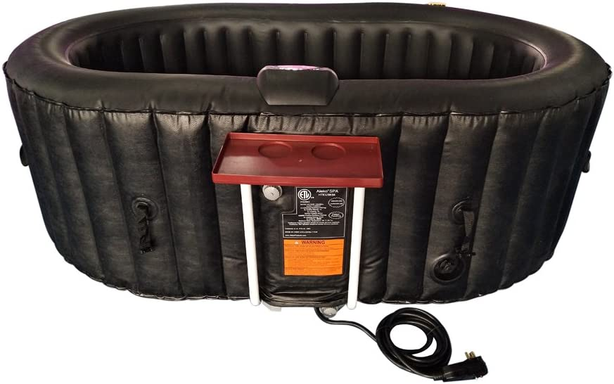 ALEKO HTIO2BKBK Oval Inflatable Hot Tub