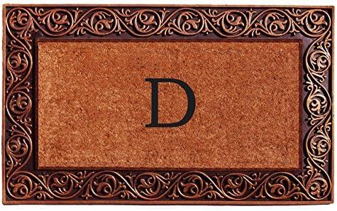 Home More 10003BRNZD Prestige Bronze Monogram Doormat Letter D