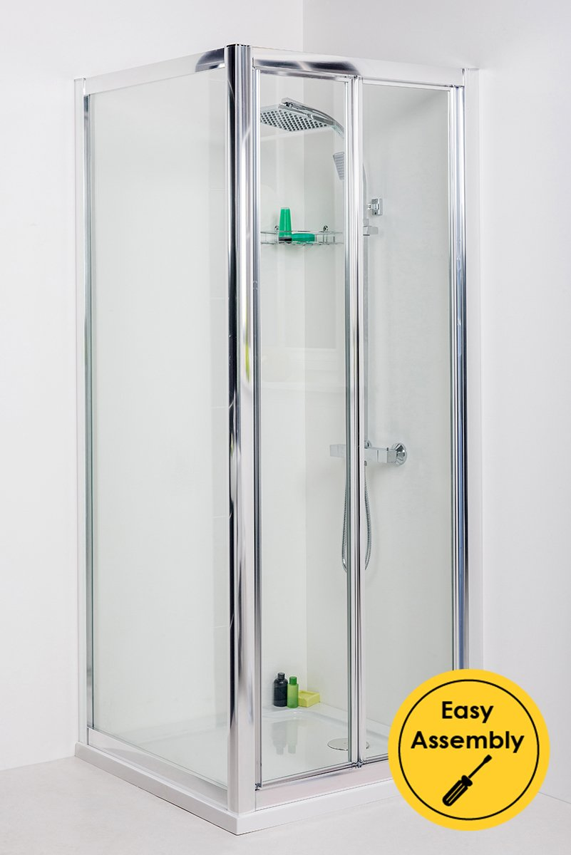 Aquariss 760 X 760mm Bi Fold Shower Enclosure With Easy Clean Glass
