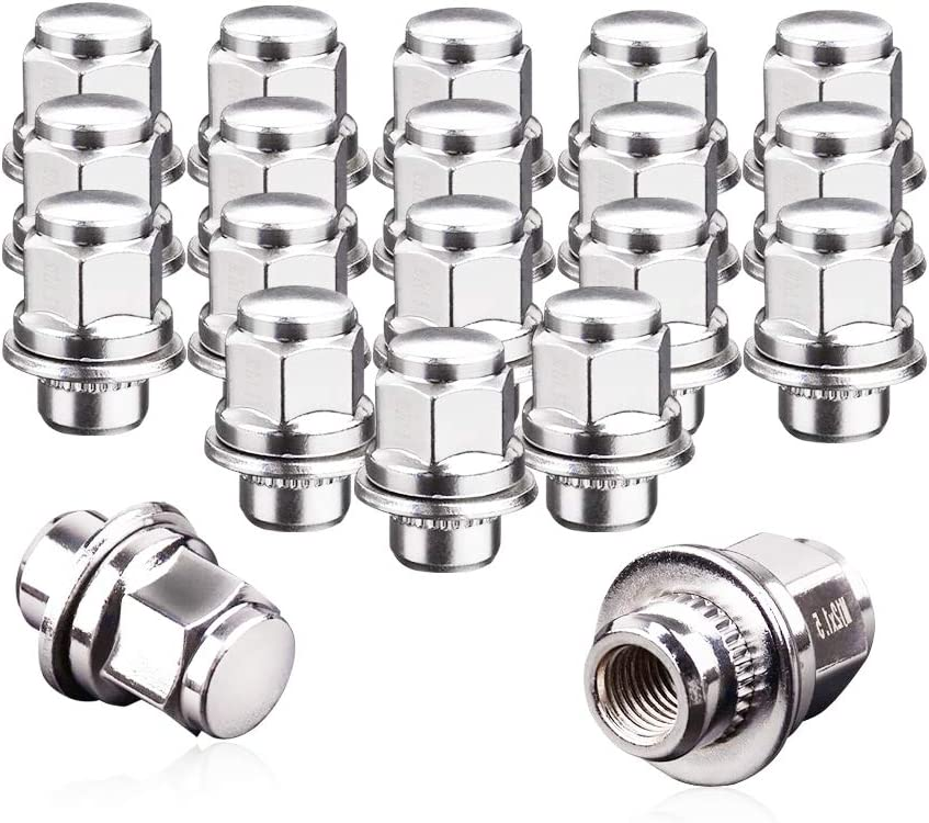 12x1.5 Lug Nuts 20 Pcs Chrome Closed End Mag Style Lug Nuts with Washer 13/16'' (21mm) Hex Compatible for Toyota Camry/Corolla/Tacoma Lexus 5 Lug 4 Lug Wheels: Automotive