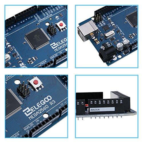 Elegoo EL-CB-003 MEGA 2560 R3 Board ATmega2560 ATMEGA16U2 + USB Cable for Arduino by ELEGOO (Image #4)