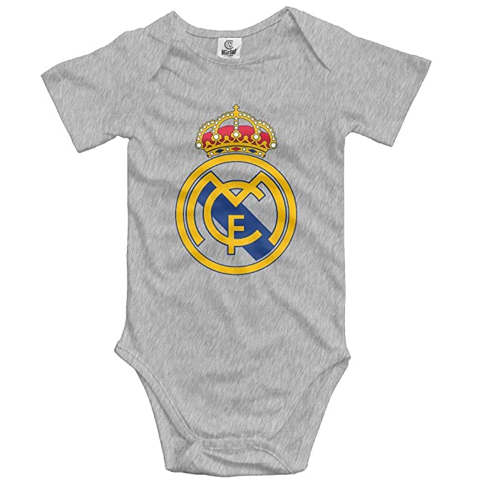 e5cd281f3 Amazon.com  GNJY Real Madrid Logo Funny Cute Novelty Infant Baby Bodysuit   Clothing