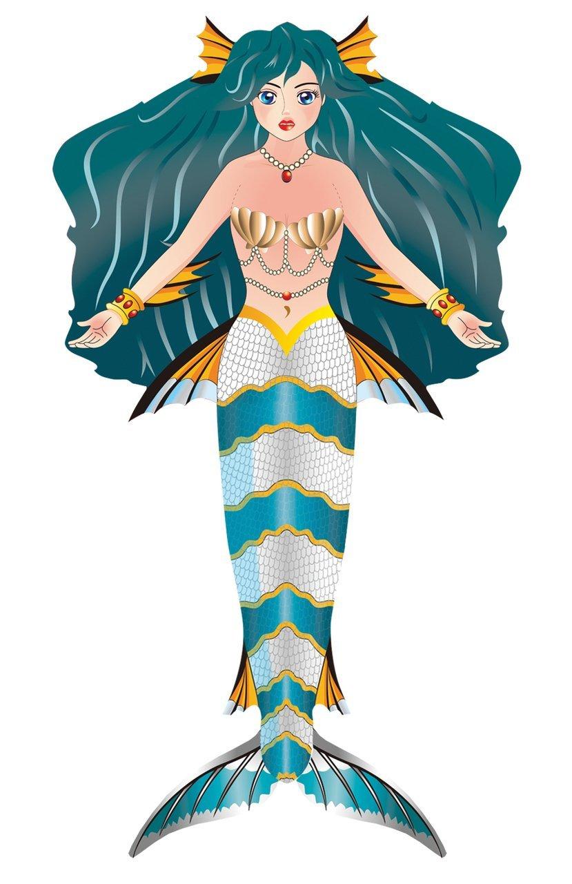 BRAIN STORM KITES 71104 WNS FantasyFliers 62 x 33.5 Nylon 3D Mermaid BNSF1104