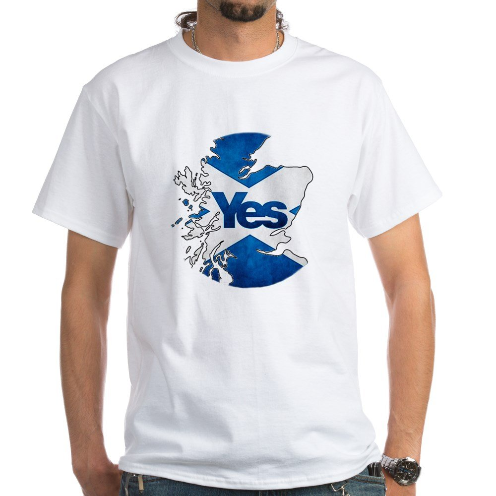 c305531c CafePress Yes for Scotland - 100% Cotton T-Shirt: Amazon.co.uk: Clothing