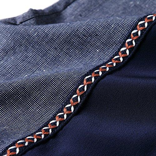 Vestido blue Verano Primavera El Algodón ZHUDJ Fino Y Cosido La dark aqxXA