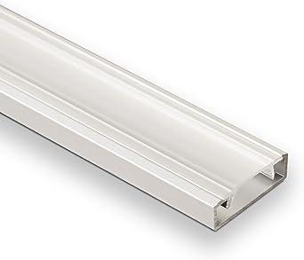 25 x LED Profil-22 mit klarer Abdeckung 2 m für LED Stripes Profilschiene Leiste