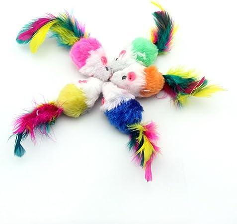 Bobury 10pcs ratón en Forma de Colores Pluma Cola decoración Juguetes para Gatos al Azar: Amazon.es: Hogar