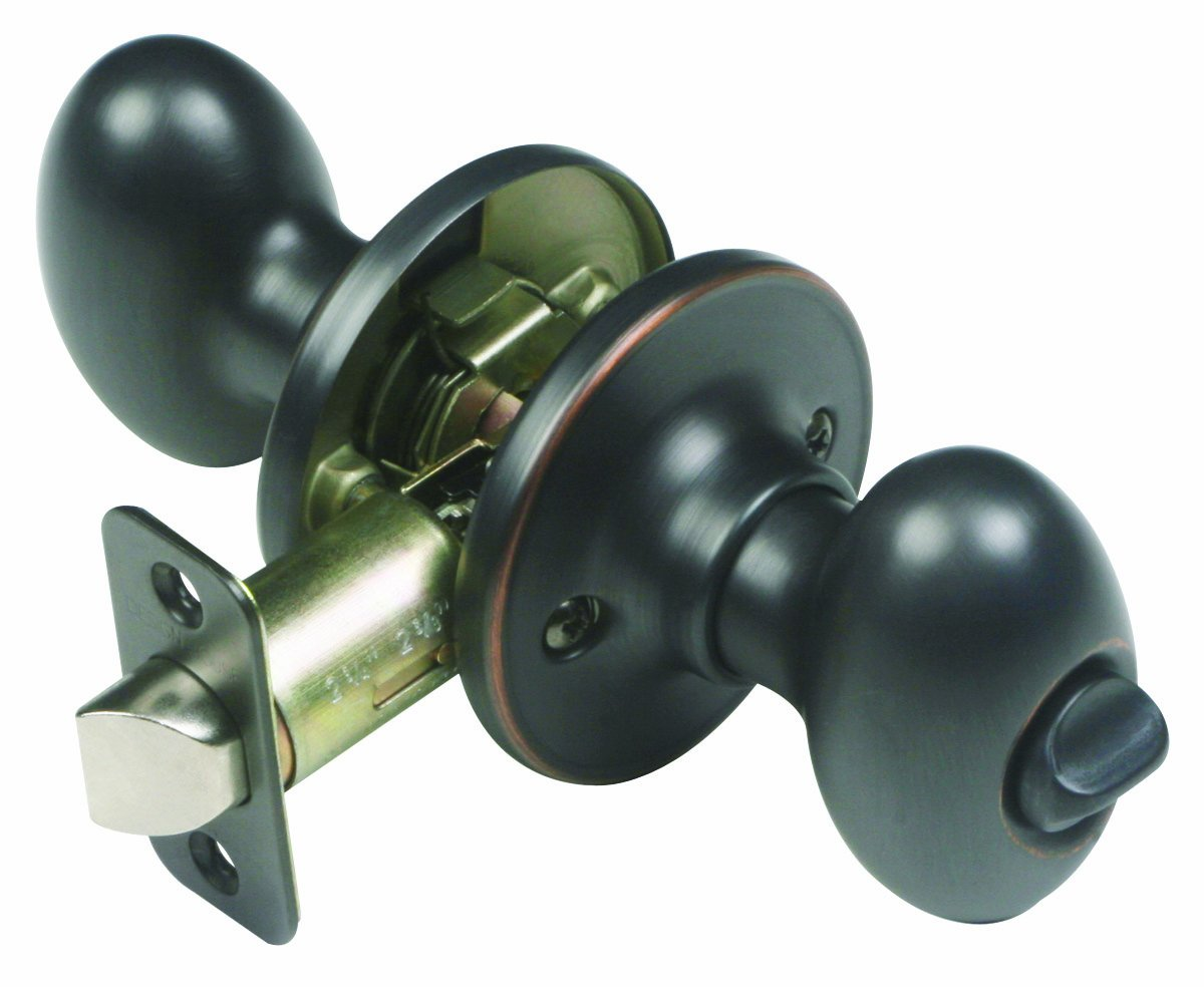 Design House 750588 Egg 2 Way Latch Privacy Door Knob, Adjustable Backset,  Oil Rubbed Bronze Finish   Doorknobs   Amazon.com