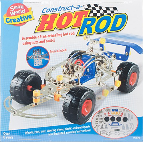 Small World Toys Creative - Construct-A-Hot Rod Metal Construction Set (Rod Craft Car Hot)