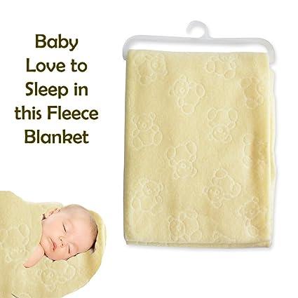 Nuevo bebé recién nacido suave manta de forro polar, diseño de oso ...