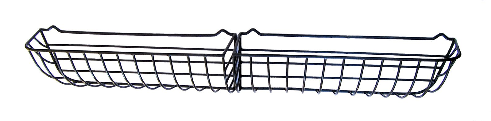 72'' Sectional Wrought Iron Window Hayrack coated in black PVC