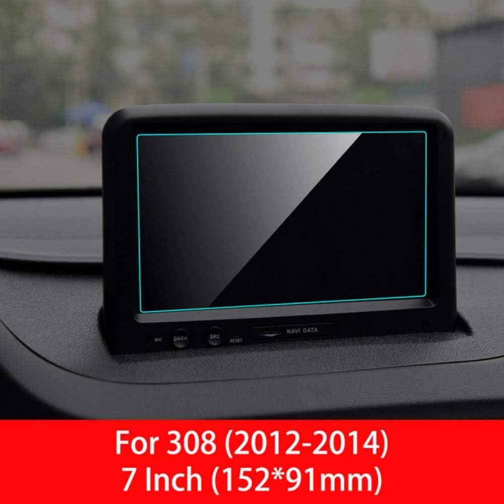 OIOBOMBG Navegación GPS del Coche Protector de Pantalla Auto Interior Vidrio Templado Película Protectora Coche, para Peugeot 308 408 508 2008 3008 5008,: Amazon.es: Deportes y aire libre