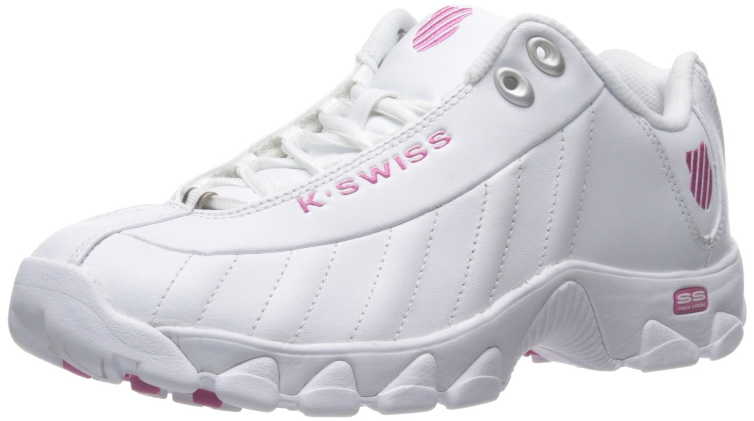 K-Swiss B00RBOLDXQ Women's ST329 CMF Training Shoe B00RBOLDXQ K-Swiss 7.5 B(M) US|White/Shocking Pink abd556