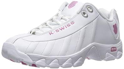 1d6190628 K-Swiss Women's ST329 CMF Trainer Lifestyle Sneaker, White/Shocking Pink, 5