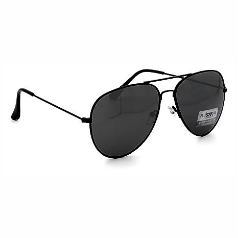 Occhiali Da Sole Uomo Marca Isurf Piu' Modelli Disponibili Con Montatura Nera Lente Nera / Neri (mod. Justin) rnpHys