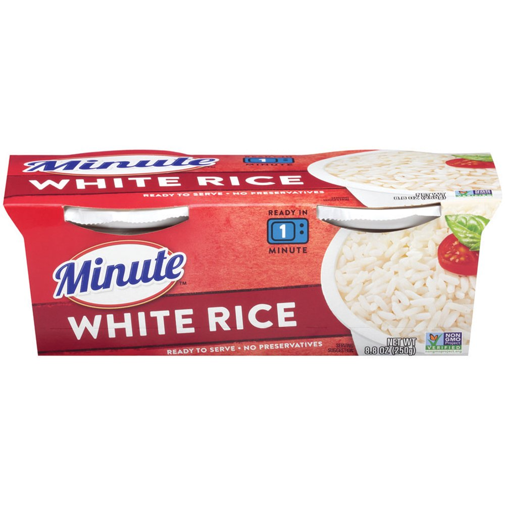Minute Ready To Serve White Rice, 2/4.4 oz Cups
