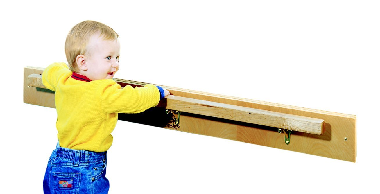 Childcraft 967001 Look at Me Safety Bar and Mirror, 42 Inch Bar, 47-3/4 Inches 3 Inches Height,26 Inches Width,47.75 Inches Length,Natural Wood