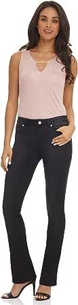 Rekucci Women's Jean-ius Fit Super Soft 5 Pocket Bootcut Denim Jeans