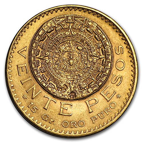 1921 MX / 1910 Mexico Gold 20 Pesos AU/BU Gold About Uncirculated (Gold 2 Peso)