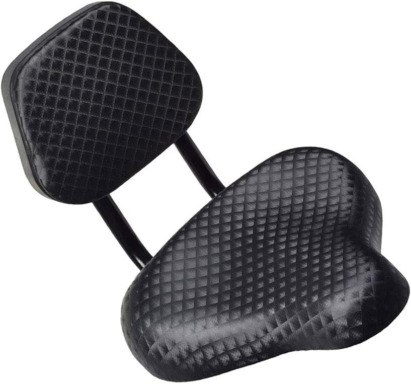 ENticerowts - Sillín para Bicicleta (Piel sintética, con Respaldo de Apoyo)