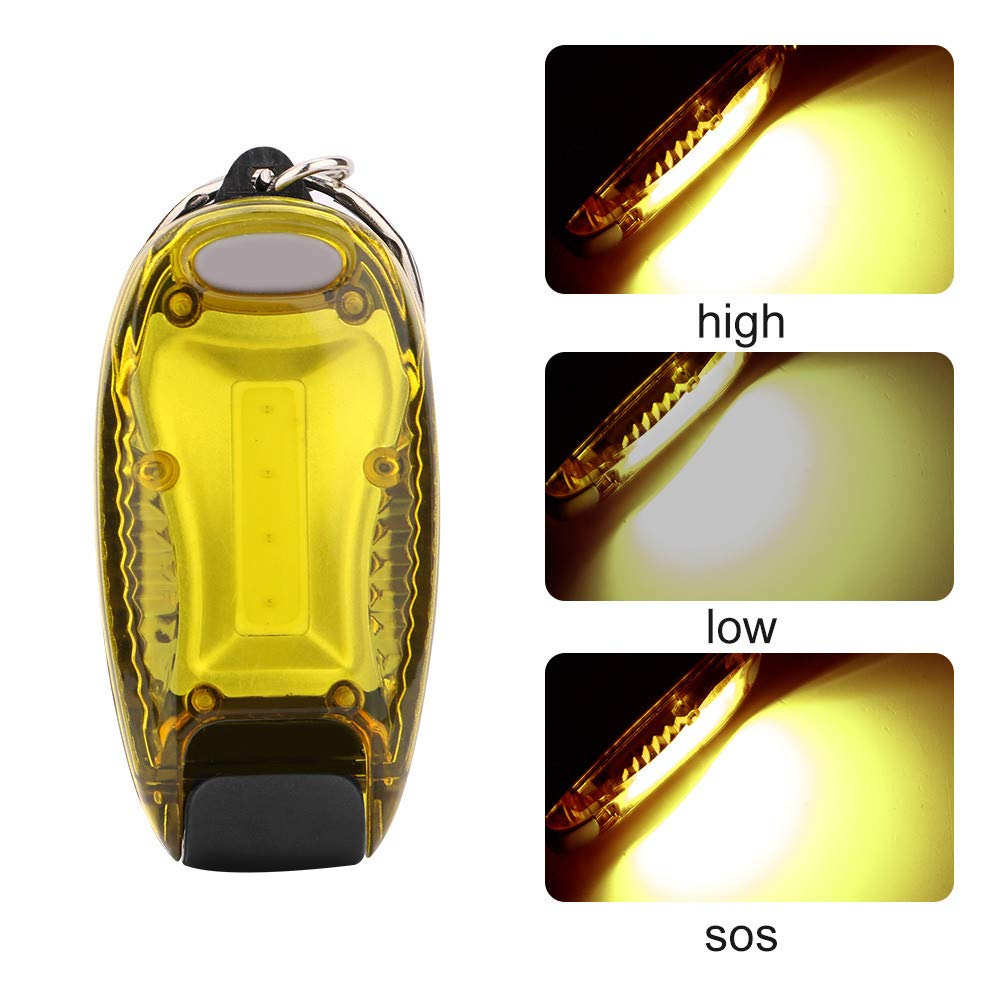 Tpingfe 3 Mode Mini Keychain Pocket Torch COB LED Flashlights Flash Light Lamp Battery