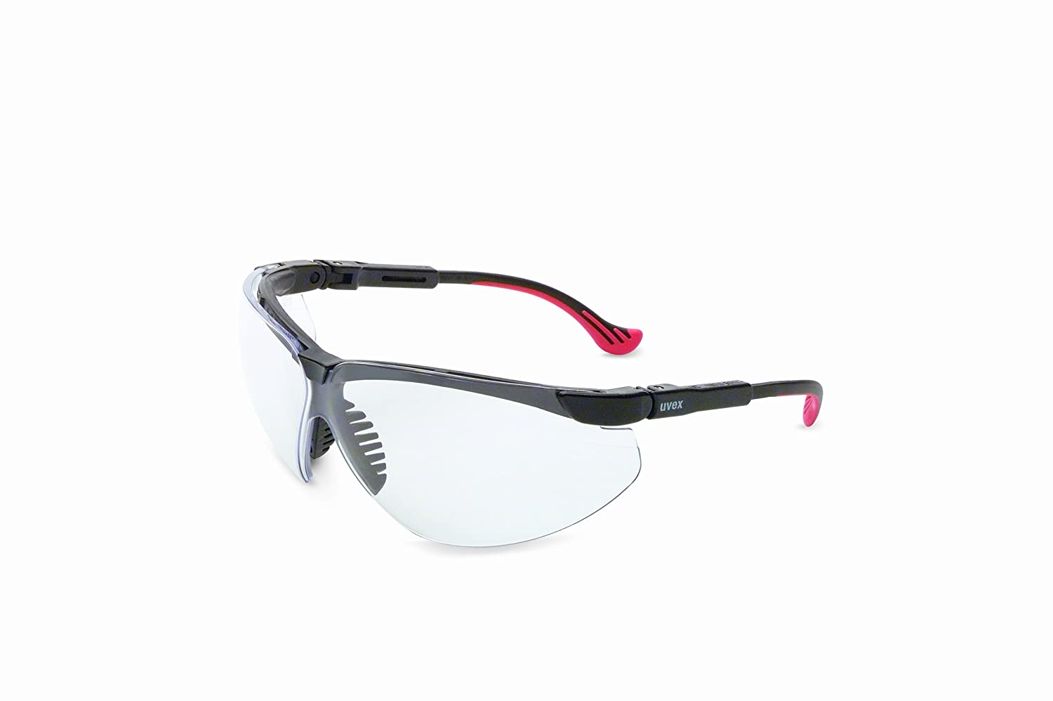 Uvex by Honeywell Genesis XC Safety Glasses, Black Frame with Clear Lens & Uvextreme Anti-Fog Coating(S3300X)