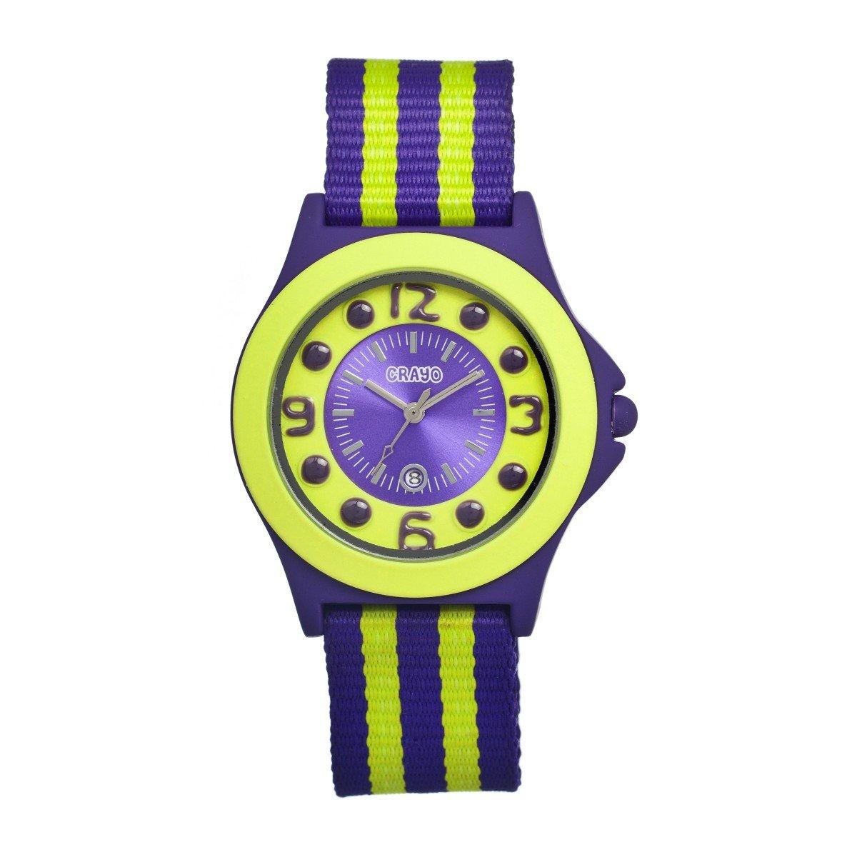 Crayo Kid's CR0702 Carnival Purple Nylon Watch