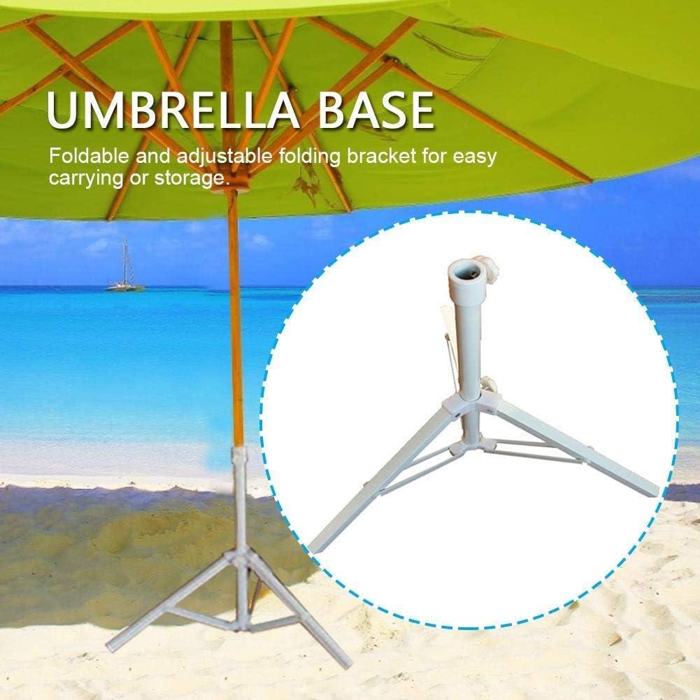 AJH Sombrilla de Playa Sombrilla Plegable Sombrilla de jardín Base Cuadrada de Hierro