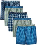 Hanes Men's Exposed Waistband Woven Boxers Shorts Underwear