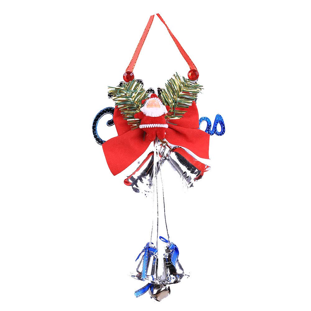 MomeHome Wallhaning  1 PCS Fashion Christmas Bell Ball Chain Gift Xmas Tree Pendant Hanging Ornament Decor - Home Garden Pendants,Car Hanging Decoration,Door Hang Supplies (Blue)
