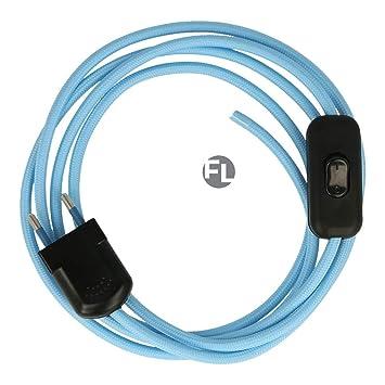 Cable con conector y Interruptor para lámpara, cable de tela con ...