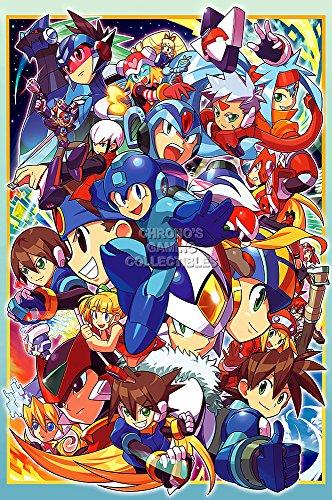 CGC Huge Poster GLOSSY FINISH - Mega Man Zero All Art Original Nintendo NES SNES GBA 1 2 3 4 5 6 Megaman Rockman - EXT835 (24