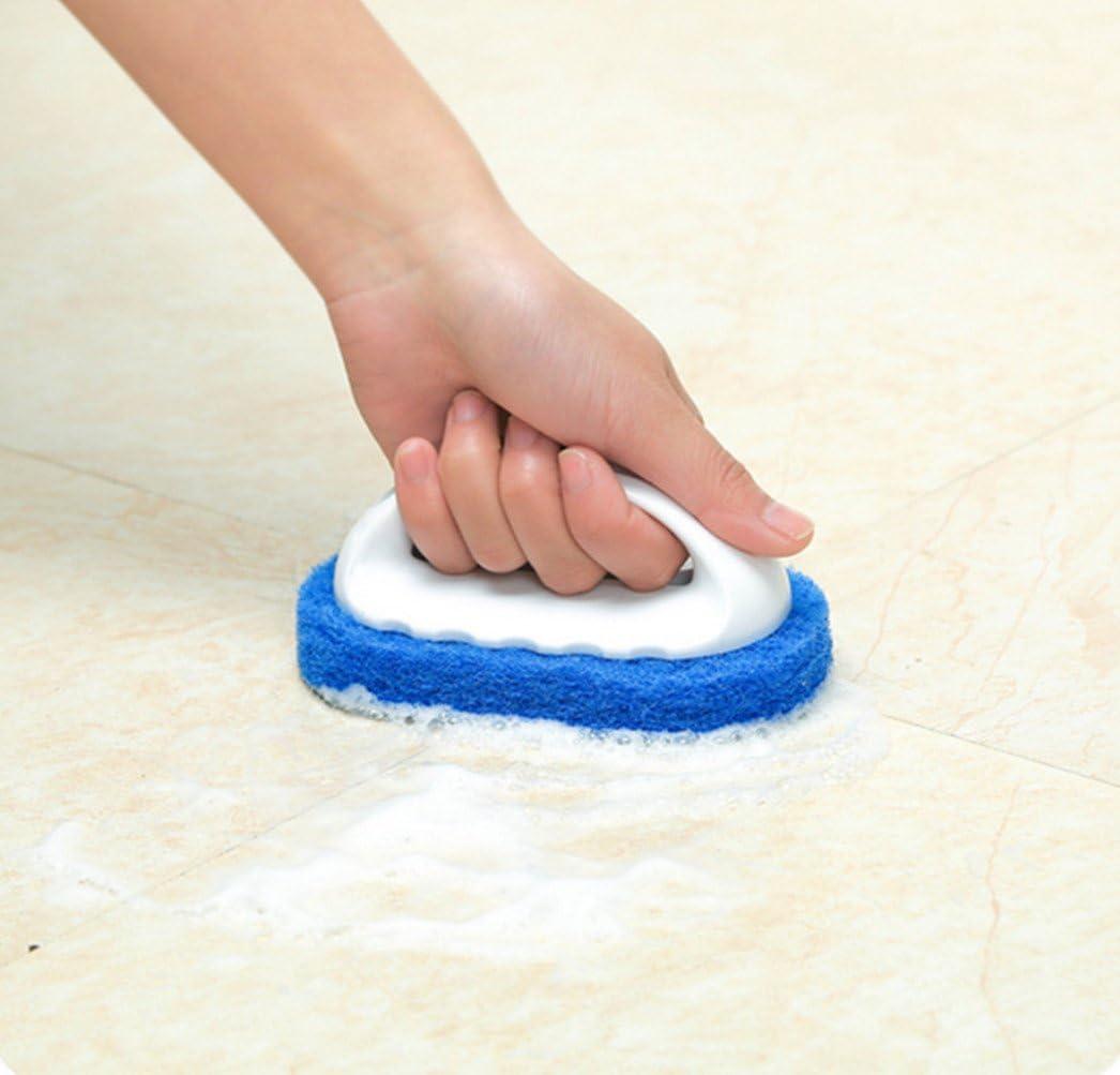Katech 2 Pezzi di Pulizia Vasca Spugna da Bagno lavandino da Cucina Spugna Scrubber Cleaner mattonelle Pavimento Pulizia spazzole con Manico