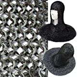 European Flat Ring Rivet Chain Mail Coif