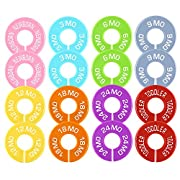Caydo 16 Pieces 8 Colors Clothing Size Dividers Round Hangers Closet Dividers