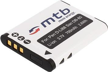 Batería de repuesto para Pentax dli88 d-li88 dli-88 batería