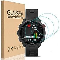 HEYUS [3 Pack] for Garmin Forerunner 245 Screen Protector Glass, Ultra-Thin 9H Hardness Anti-Fingerprint Watch Tempered…