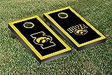 University of Iowa Hawkeyes Cornhole Game Set Alt Border Wooden