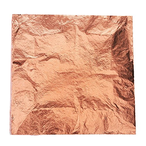Bullet FACE 100 Sheets 5.5 by 5.5 inches Imitation Gold Leaf Foil Paper for Arts, Gilding Crafting, Decoration DIY (Rose Gold) ()