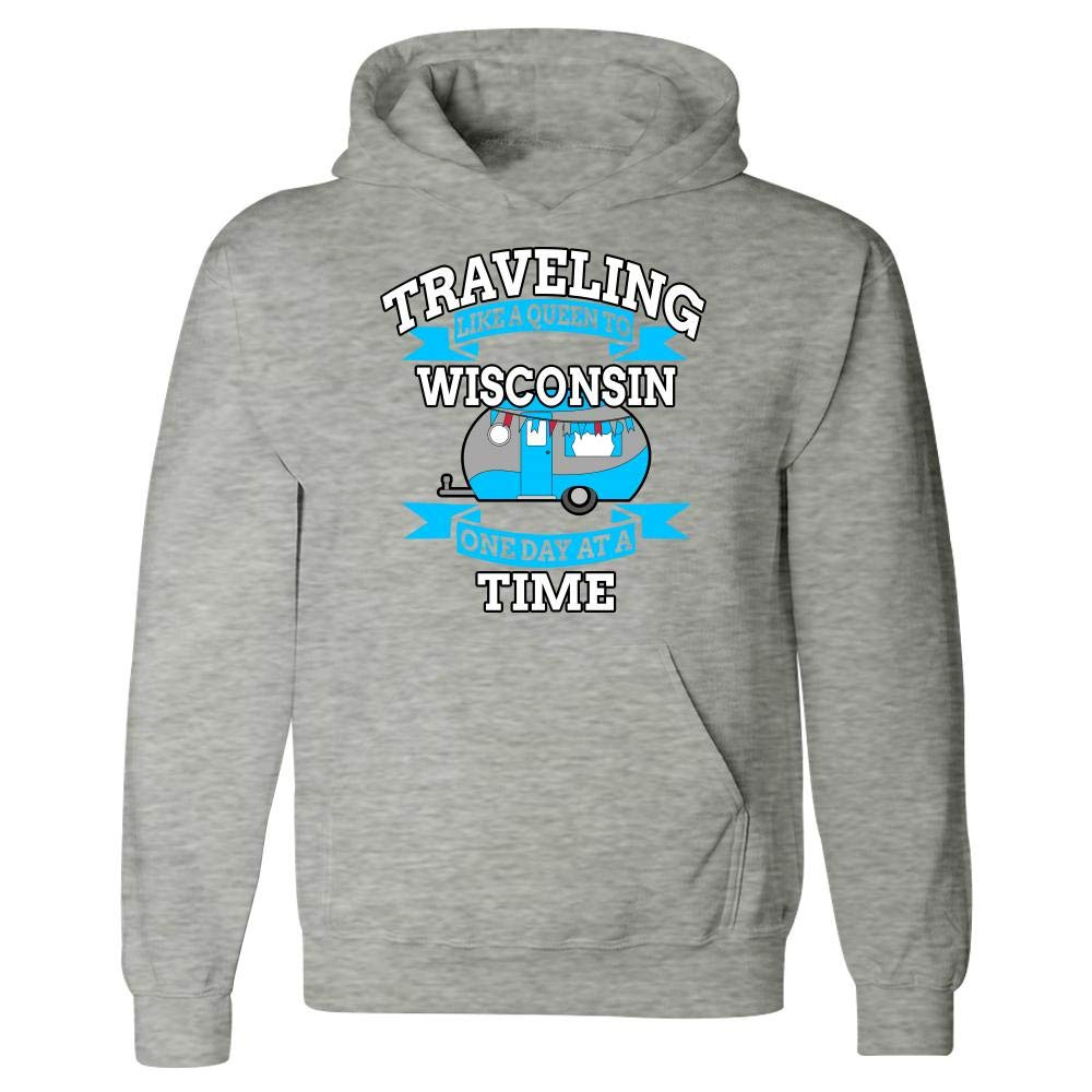 Carlas Corner Store Traveling Like a Queen to Wisconsin Hoodie