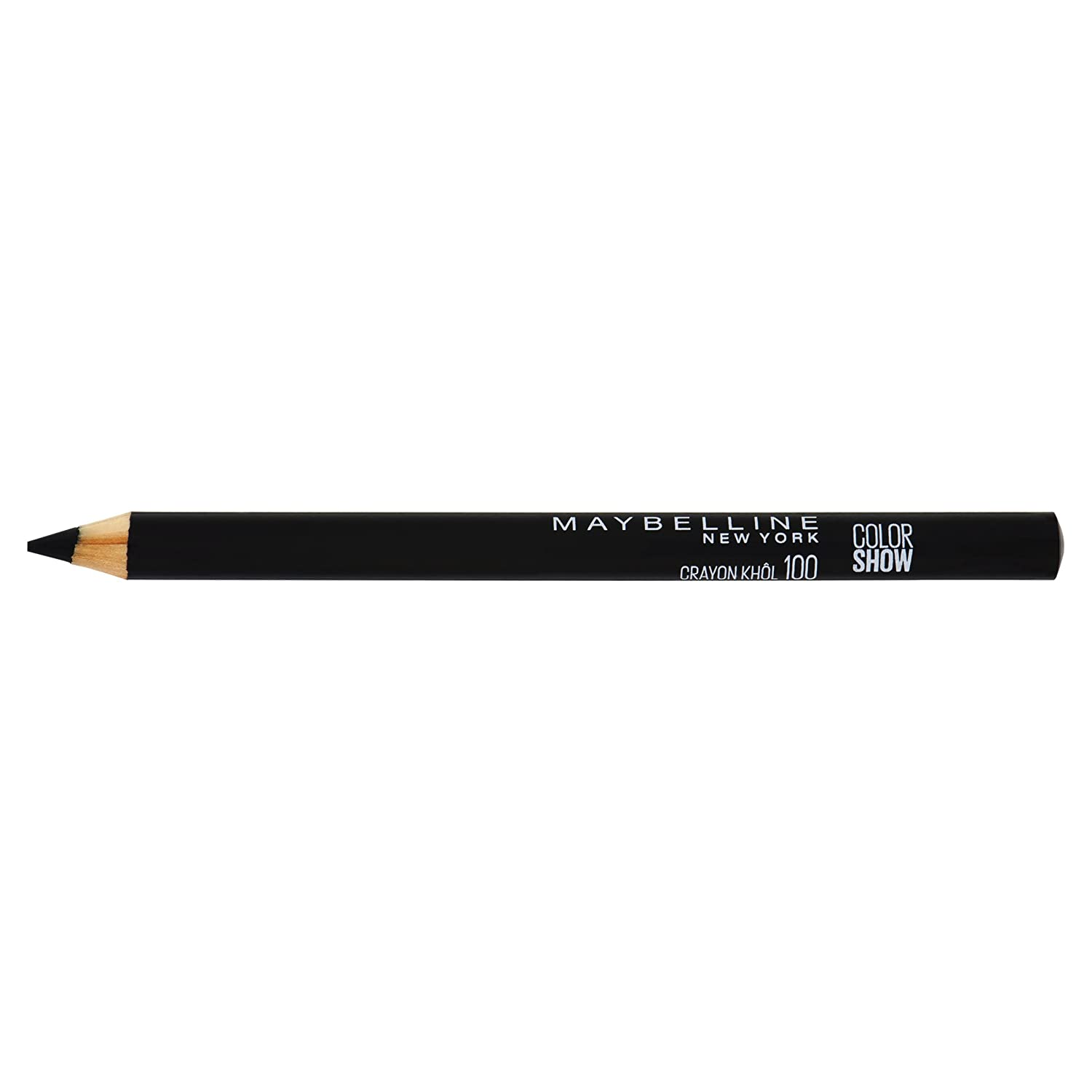 a83438d4a08 Maybelline Color Show Crayon Khol Eyeliner Pencil Number 100, Ultra Black:  Amazon.co.uk: Beauty
