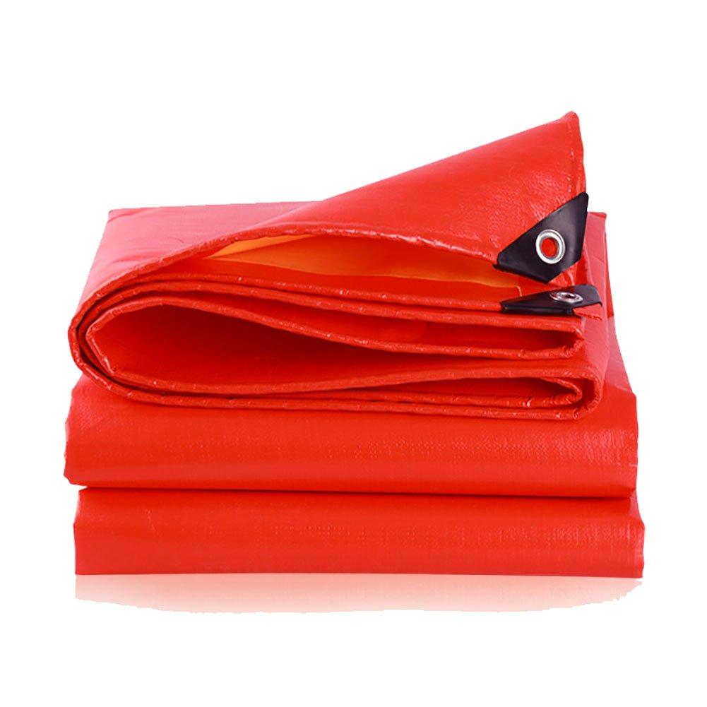 JNYZQ Verdicken Sie Wasserdichte rote Plane-Hochleistungspicknick-Matten-Zelt-Spleiß-Markise-Sonnenblende-Visier-regendichte Tuch-Falle-Bodenblatt-Abdeckungs-Schuppen-Tuch für Das Fischen-Kampieren